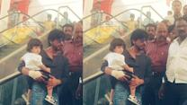 Caught on cam: Baby AbRam enjoys day out with daddy SRK at Mumbai mall
