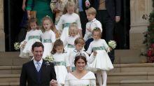 George, Charlotte y la caída de Louis en la boda de Eugenia de York