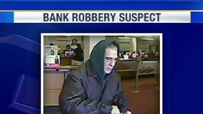 Bank Robber's Image Captured On Tape
