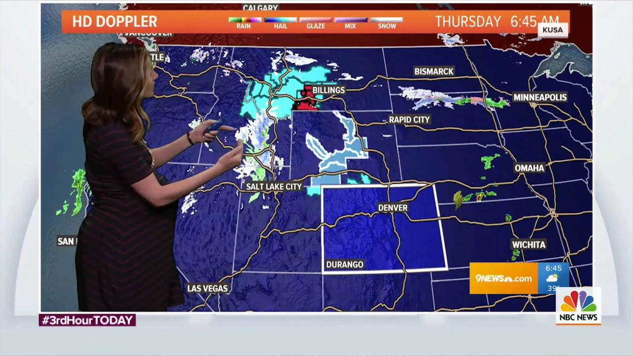 Pregnant meteorologist fires back after viewers say her belly is 'blocking  too much of the weather map'