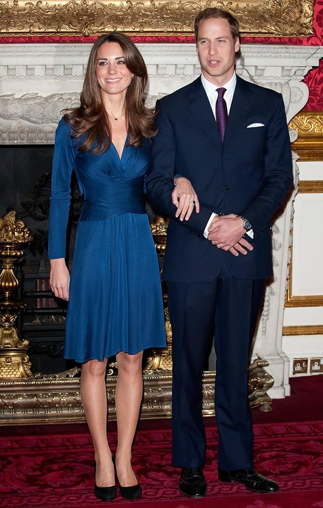 A royal engagement! Kate's navy Issa dress from her engagement photo is one of the most sought-after dresses she's worn.