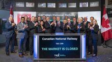 Canadian National Railway Company Closes the Market