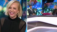 The Project's Carrie Bickmore shocks co-hosts with bare feet