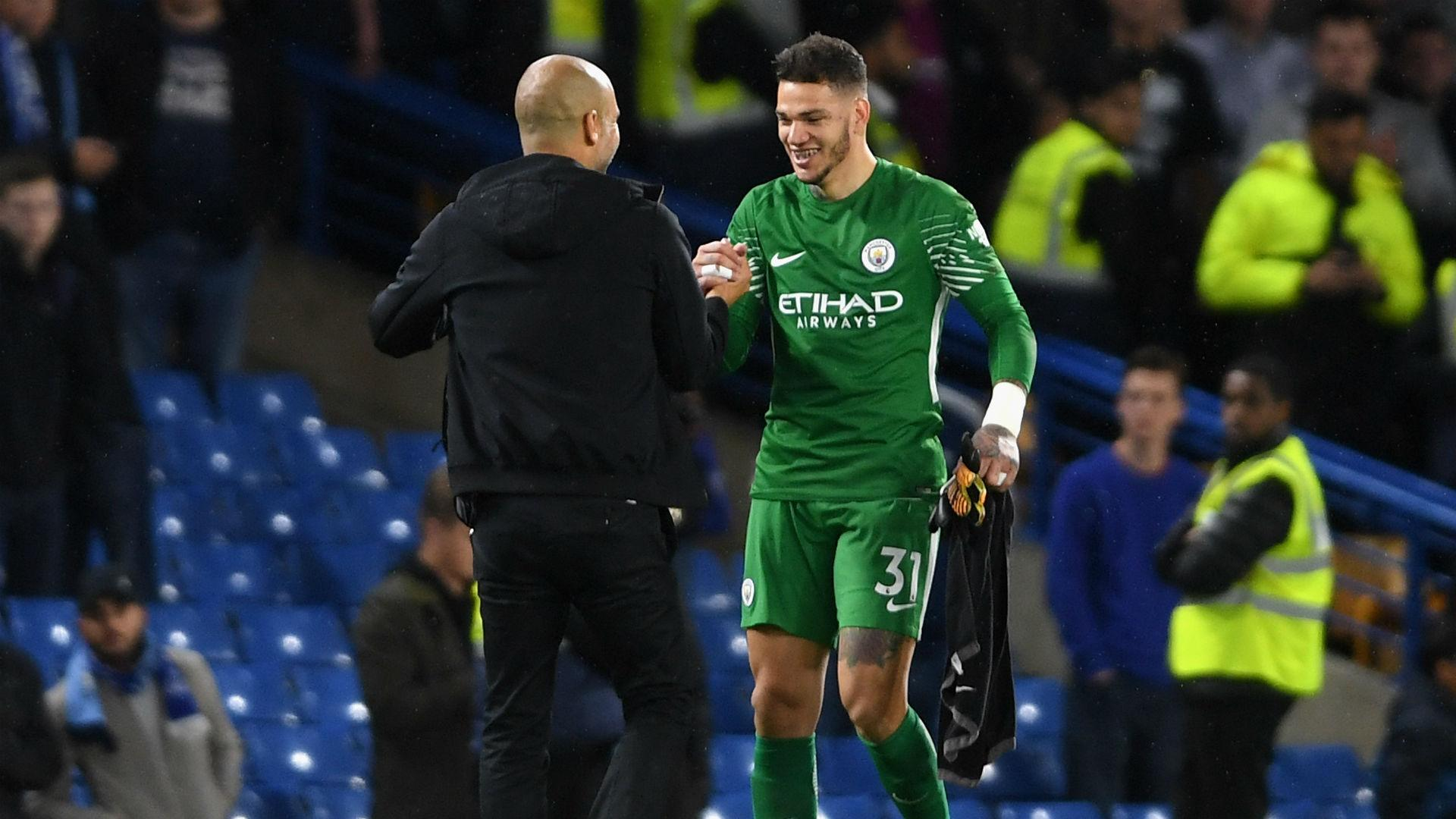 Ederson e Guardiola all'Ethiad Stadium | Numerosette Magazine