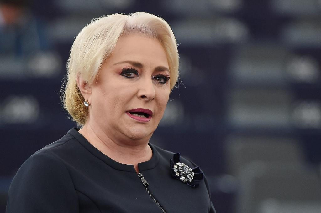 "Romanian Prime Minister Viorica Dancila, pictured October 3, 2018, insisted that financing the change ""won't be a problem"""