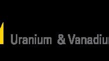 Western Uranium & Vanadium Corp. Corporate Update