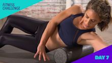Tough week? Jillian Michaels' 7-minute foam melt and mediation challenge is your perfect relief