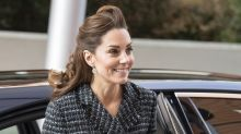 Duchess of Cambridge rewears Dolce & Gabbana suit for her seventh engagement in a week
