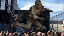 Argentine Soccer Star Honored With Giant Statue