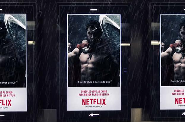 Netflix's new ad boards react to the weather with GIFs