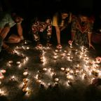 Locked-down India lights up to mark virus fight