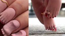 Alguém resolveu criar unhas com pés e o resultado não poderia ser mais estranho