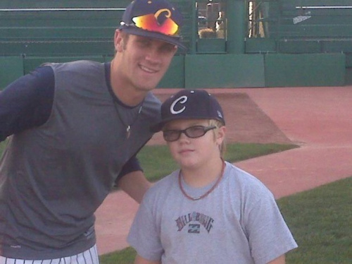 Trace Evans meets Bryce Harper, years before his 11-homer outburst — Facebook