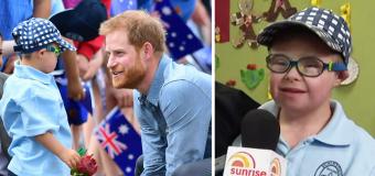 Boy becomes 'superstar' after meeting royals