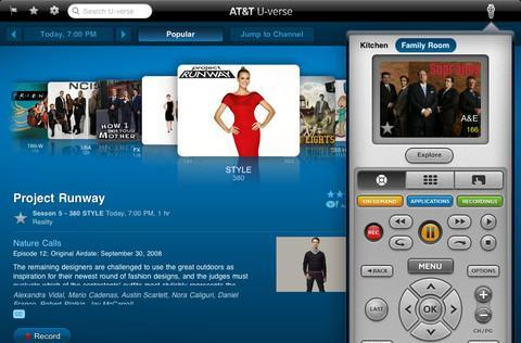 AT&T U-Verse iPad app combines DVR control and companion features