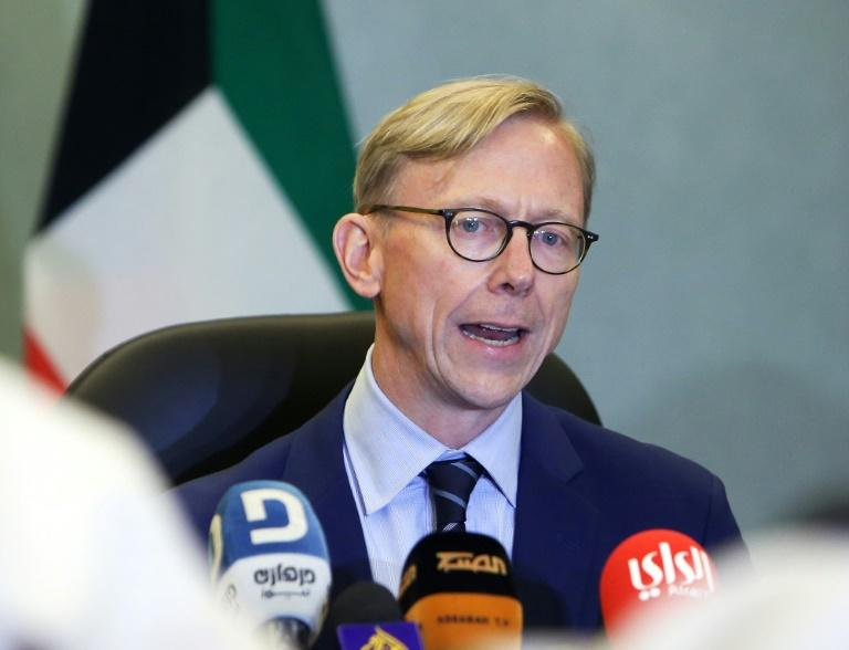 "State Department official Brian Hook said the US is ""not looking to grant any exceptions or waivers"" of sanctions (AFP Photo/Yasser Al-Zayyat)"