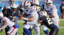 Bills have only 132 yards but lead Chargers 17-6 at halftime