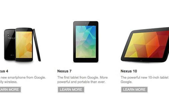 Google's refreshed Nexus 7 on sale now, Nexus 4 and Nexus 10 sign-up pages go live