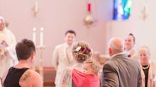 Bride Wears Her Toddler Down The Aisle In Stunning Wedding Photos