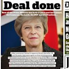 'Judgment Day' What the papers (in UK and Europe) made of Britain's draft Brexit deal