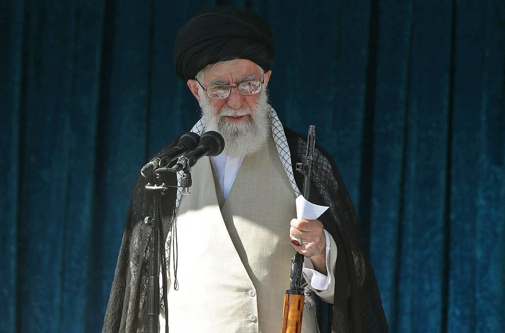 Iranian supreme leader Ayatollah Ali Khamenei is the target of new US sanctions
