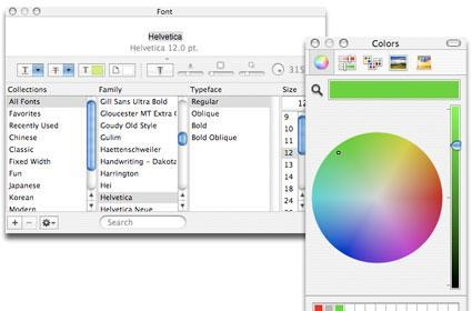 TUAW Tip: make friends with Mac OS X's Font and Color palettes