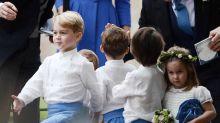 Príncipe George y princesa Charlotte como pajes de boda