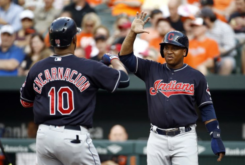 Jose Ramirez, right, Edwin Encarnacion and the Cleveland Indians are heating up. (AP)