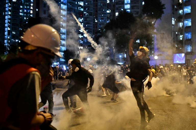 The pro-democracy protests in semi-autonomous Hong Kong are a major challenge to Beijing's authority (AFP Photo/Anthony WALLACE)