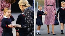 Princess Charlotte 'confident and outgoing' compared to 'shyer' Prince George on first day of school