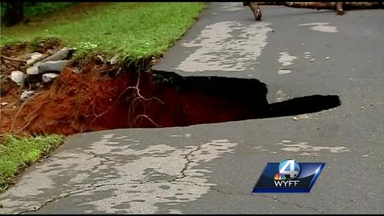 Floods cause $100,000 of damage in Pickens County
