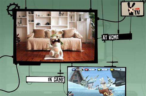 Raving Rabbids TV Party, for use with balance board, coming this winter