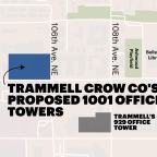 Amazon eyes Trammell Crow's new, two-tower office project, sources say