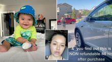 Mum shocked over baby's $14,000 Tesla purchase on iPad
