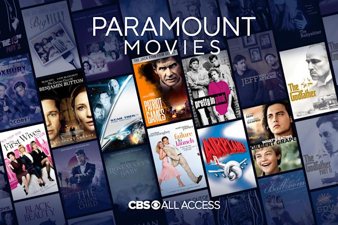 Paramount movies on CBS All Access