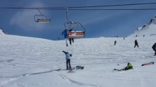 Skiers and Boarders Jump From Malfunctioning Chairlift in Georgia