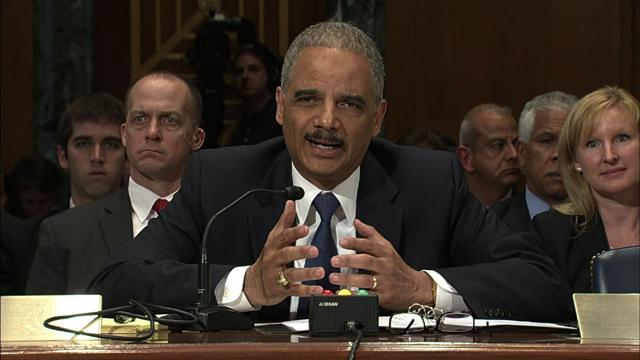 Holder discusses the