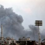 Air strikes pound insurgent enclave close to Damascus