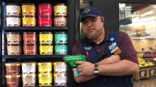 Walmart employee says he's 'guarding' Blue Bell pints with water gun after viral ice cream incident