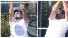 Leonardo DiCaprio toma bolada no rosto durante partida de vôlei de praia e vira meme