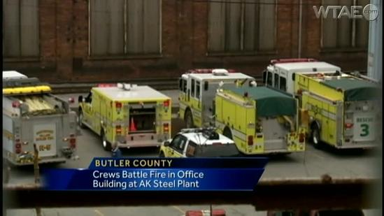 Fire hits steel plant in Butler County