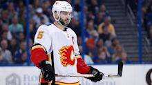 Flames' Giordano ejected for head shot on Hurricanes' Aho
