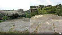 5名青年破壞3億年歷史古石 刻上字句推落山
