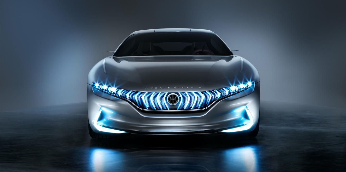 <p>The HK GT is Pininfarina's idea of a sustainable GT car. It's battery powered, built in collaboration with Hybrid Kinetic Group, a tech brand based in Hong Kong. The coolest feature isn't the tech, though, it's the gullwing doors. </p>