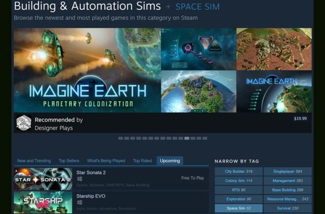 Steam tries a broader category menu to make it easier to find new games