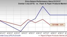 Here's Why You Should Hold on to Domtar (UFS) Stock Now