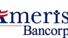 Ameris Bancorp Announces $100 Million Stock Repurchase Program