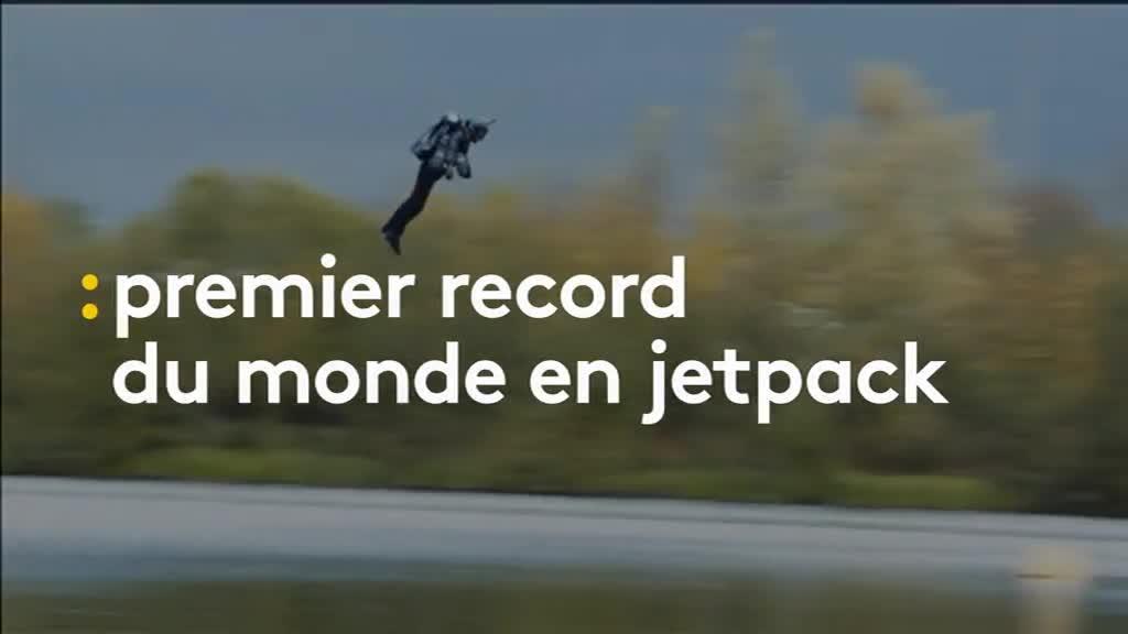 un britannique tablit le premier record du monde de vitesse en jetpack. Black Bedroom Furniture Sets. Home Design Ideas