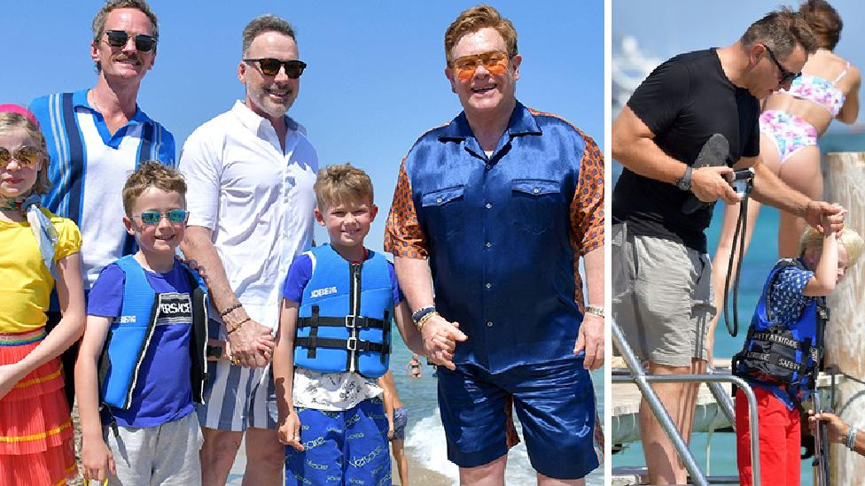 David Walliams, Elton John and Neil Patrick Harris spotted living it up in France