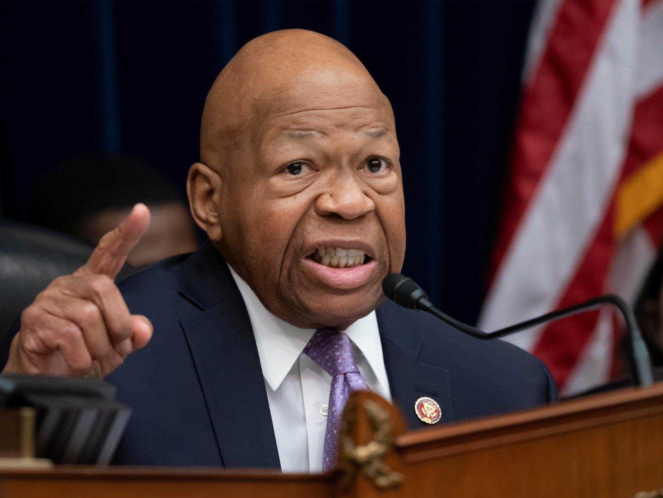 """Elijah Cummings rebuked Donald Trump's continued attacks against four Democratic congresswomen of colour during an interview on Sunday, calling the president a racist and saying his constituents tell him they're """"scared of their leader"""".The Maryland congressman spoke to ABC News' George Stephanopoulos about the House voting last week to condemn Mr Trump's """"racist comments"""" after the president told the congresswomen to """"go back"""" to their countries – despite all four being US citizens and only one having been born outside the US. """"What I'm hearing over and over again from my constituents, is 'please save our democracy, please save our country,'"""" Mr Cummings said. """"And you know something else they say George? They say 'I'm scared.'""""He added, """"I have never in my total of 37 years in public service – ever, heard a constituent say that they were scared of their leader.""""When asked if he believed the president was racist, Mr Cummings said, """"Yes. No doubt about it."""" He added, """"I tried to give him the benefit of the doubt, but I got to tell you George … when I think about what [Mr Trump] said to these young ladies who are merely trying to bring excellence to government and trying to make sure that generations yet unborn have an opportunity to experience a true democracy, when I hear those things it takes me back.""""Mr Cummings, the chairman of the House Oversight Committee, condemned Mr Trump's attacks throughout last week as the president spent several days hurling insults towards Alexandria Ocasio-Cortez, Rashida Tlaib, Ilhan Omar and Ayanna Pressley, claiming the congresswomen don't love the United States. He said in a statement during the House vote last week he was """"disappointed"""" the president """"would share these racist sentiments,"""" adding, """"We are still working to fight against redlining, voter intimidation, hate crimes, and mass incarceration. Our country deserves better than this. The world deserves better than this.""""The congressman later recalled facing similar racist t"""